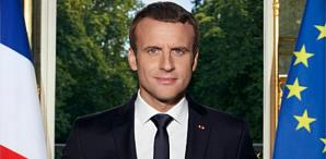 Frankreich-Emmanuel Macron-OFFIZIELLES-Portrait-Ausschnitt