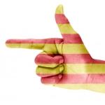 Katalonien-Hand-mit-Finger
