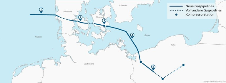 Energie-Baltic Project-Nord Stream 2-Ostsee-landkarte