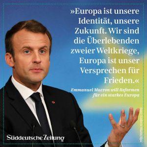 Macron-Europabekenntnis