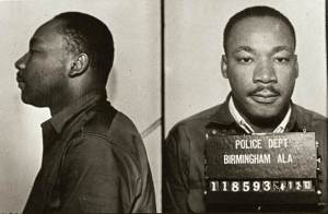 Martin Luther King Jr following his 1963 arrest in Birmingham