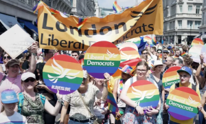 Großbritannien-Liberale LiberalDemocrats-Bewegung