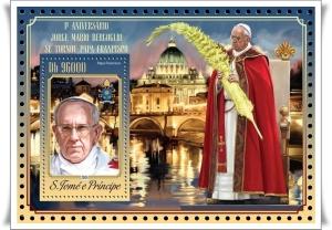 Papst-Franziskus-Briefmarke Sao Tome1-4-mitRand