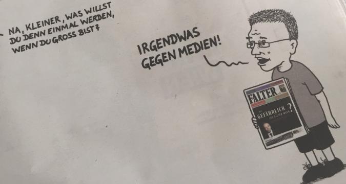 Presse Medien Karikatur